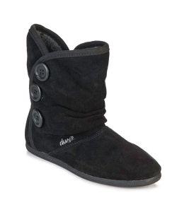 DVS Shiloh Button Black Suede Women's Shoes