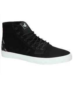 DVS Tripp Hi W Black White Suede Women's Shoes