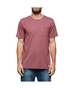 ELEMENT BASIC POCKET CREW OXBLOOD HEATHER T-SHIRT