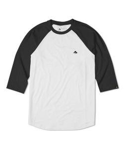 Emerica 3/4 Triangle Black White Raglan