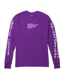 Emerica No News Purple Men's Long Sleeve T-Shirt