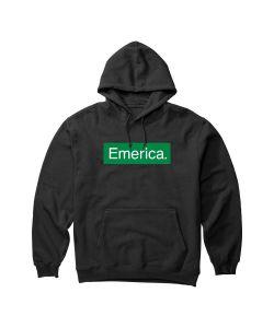 Emerica Pure Bar Black Ανδρικό Φούτερ Κουκούλα