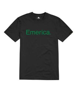 EMERICA PURE BLACK GREEN T-SHIRT