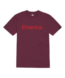 EMERICA PURE BURGUNDY T-SHIRT