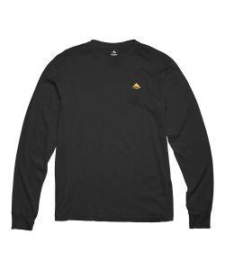 Emerica Pure Mini Logo Black Men's Long Sleeve T-Shirt