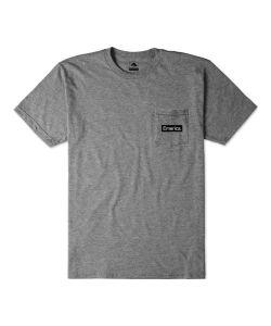 Emerica Pure Triangle Pocket Charcoal Heather Ανδρικό T-Shirt