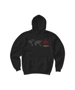 Es Digi Map Black Men's Hoodie