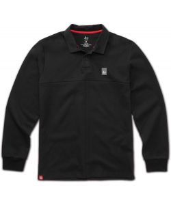 Es Split Black Long Sleeve Men's Polo