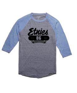 Etnies 86 Triblend Raglan Grey/Heather T-Shirt