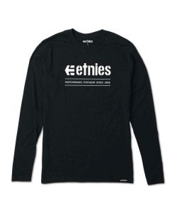 Etnies Alters Black Men's Long Sleeve T-Shirt