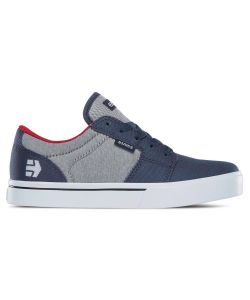 Etnies Barge Ls Grey/White/Red Kid's Shoes