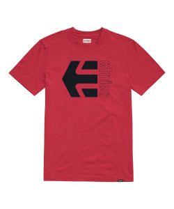 Etnies Corp Combo Red Black Ανδρικό T-Shirt