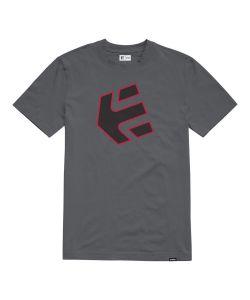 Etnies Crank Grey Black Red Men's T-Shirt