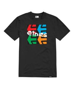 ETNIES FOUR SQUARE BLACK T-SHIRT