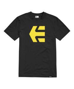 ETNIES ICON BLACK YELLOW T-SHIRT