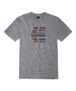 Etnies Icon Print Grey Blue Men's T-Shirt