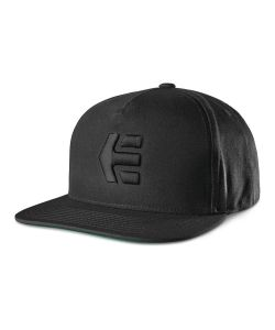 Etnies Icon Snapback Black Black Hat