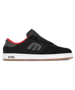 ETNIES LO-CUT BLACK KIDS SHOES