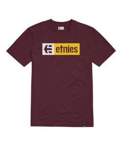 Etnies New Box Burgundy Men's T-Shirt