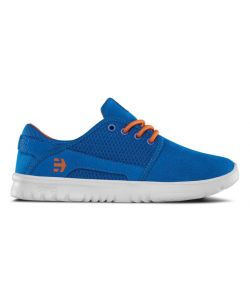 ETNIES SCOUT BLUE/ORANGE/WHITE KIDS SHOES