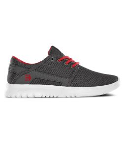ETNIES SCOUT GREY/RED KIDS SHOES