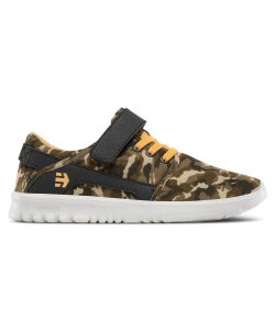 ETNIES SCOUT V BROWN CAMO KIDS SHOES
