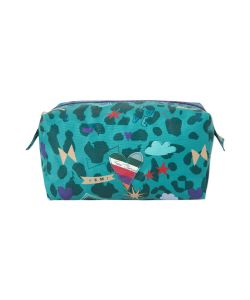 FEMI STORIES IKAIA SMALL COSMETIC BAG LEO GREEN