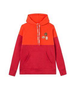 Femi Stories Nemos Flame Orange Γυναικείο Φούτερ Κουκούλα