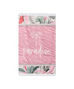 Femi Stories Park Beach Towel Pink Zebra