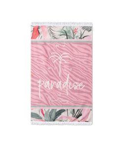 Femi Stories Park Beach Towel Pink Zebra Πετσέτα Παραλίας