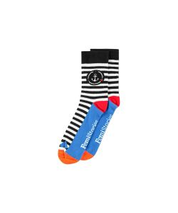 Femi Stories Pavo Black Ecru Stripes Women's Socks