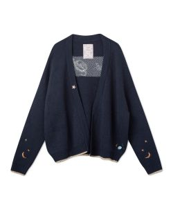 Femi Stories Sky Sweater Navy Γυναικεία Ζακετα