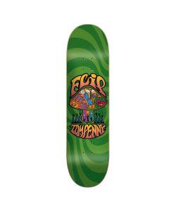 FLIP LOVESHROOM GREEN 8.25 SKATE DECK