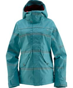 Foursquare Angela Landing Stripe Helsinki Blue Women's Snow Jacket