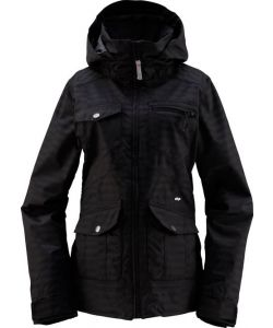 Foursquare Chrissy Blackout Women Snow Jacket