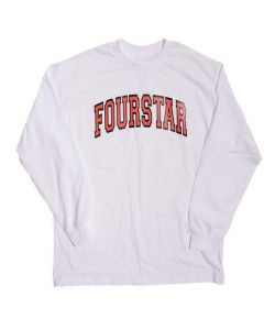 Fourstar  Arched White Men's Long Sleeve T-Shirt