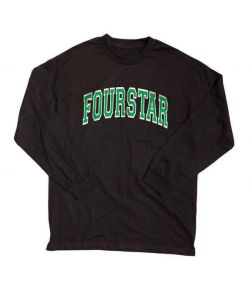 Fourstar Arched Black Men's Long Sleeve T-Shirt