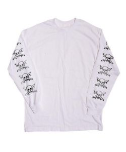 Fourstar Pirate Chain White Men's Long Sleeve T-Shirt