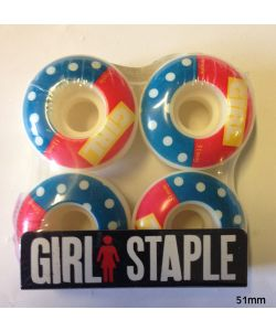 Girl Blocked Staple Wheels