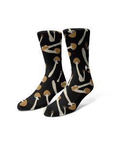 Girl Shroom Black Κάλτσες