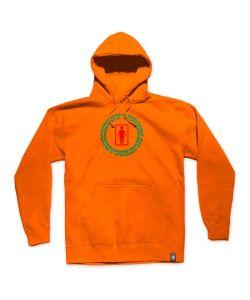 Girl Vibrations Safety Orange Ανδρικό Φούτερ Κουκούλα