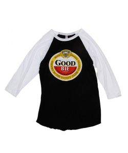 GOODBIE GHETTO BREW LTD  3/4 BLACK/WHITE RAGLAN