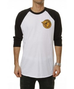 GOODBIE HERMES ICON WHITE/BLACK RAGLAN