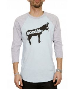 GOODBIE ORIGINAL DONKEY LIGHT BLUE HEATHER GREY RAGLAN