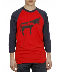 GOODBIE ORIGINAL DONKEY RED NAVY RAGLAN