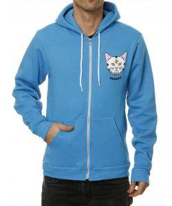 Goodbie Rude Kitten Neon Blue Hoodie