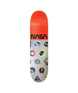 HABITAT NASA COLLECTION SILVER RED FOIL 8.125 SKATE DECK
