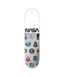 HABITAT NASA COLLECTION SILVER WHITE FOIL 8.0 SKATE DECK