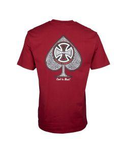 Independent CBB Cross Spade Maroon Men's T-Shirt