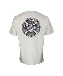 Independent FTS Skull Silver Men's T-Shirt